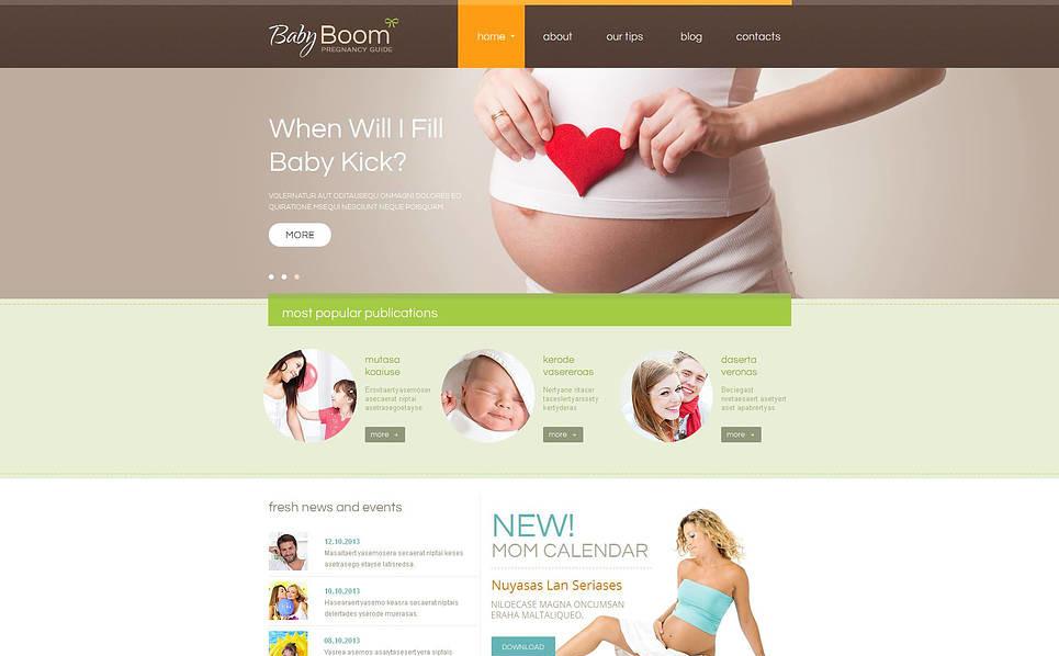 Moto CMS HTML Vorlage für Schwangerschaft  New Screenshots BIG