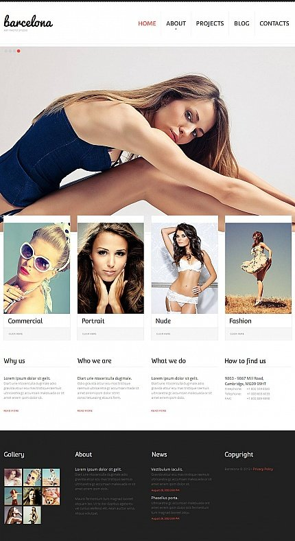 ADOBE Photoshop Template 46585 Home Page Screenshot