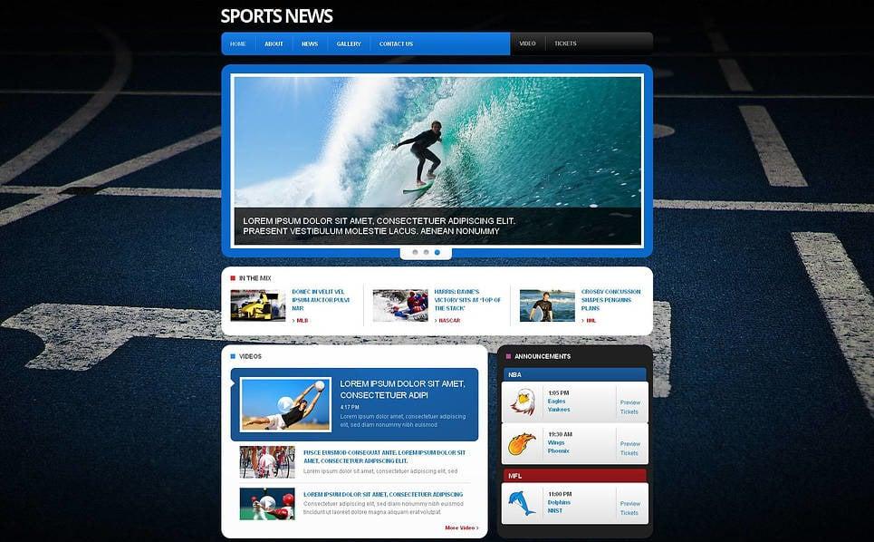 Moto CMS HTML Vorlage für Sportnachrichten  New Screenshots BIG