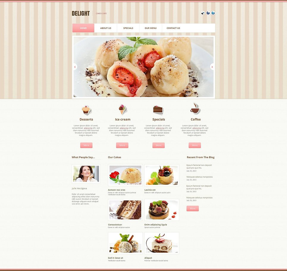 Cafe Website Template with Textured Header - image