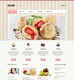 Cafe & Restaurant Moto CMS HTML  Template 46587