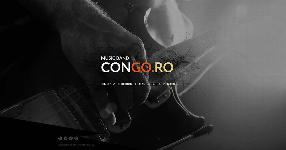 Rock Music Web Template with Photographic Background - image