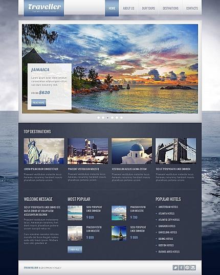 ADOBE Photoshop Template 46589 Home Page Screenshot