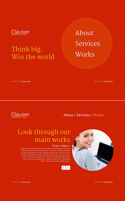 ADOBE Photoshop Template 46591 Home Page Screenshot