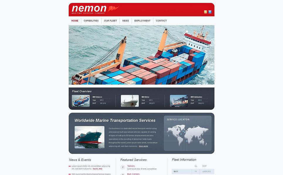 Template Moto CMS HTML para Sites de Templates Marítimos №46592 New Screenshots BIG