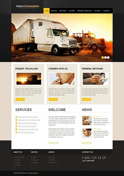 ADOBE Photoshop Template 46596 Home Page Screenshot