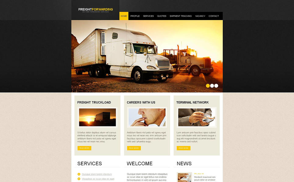 Template Moto CMS HTML para Sites de Caminhão №46596 New Screenshots BIG