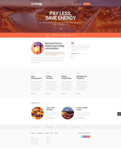 Lighting & Electricity Responsive Шаблон сайту