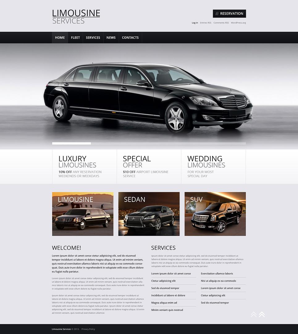 Адаптивный шаблон сайта на тему прокат лимузинов #46548