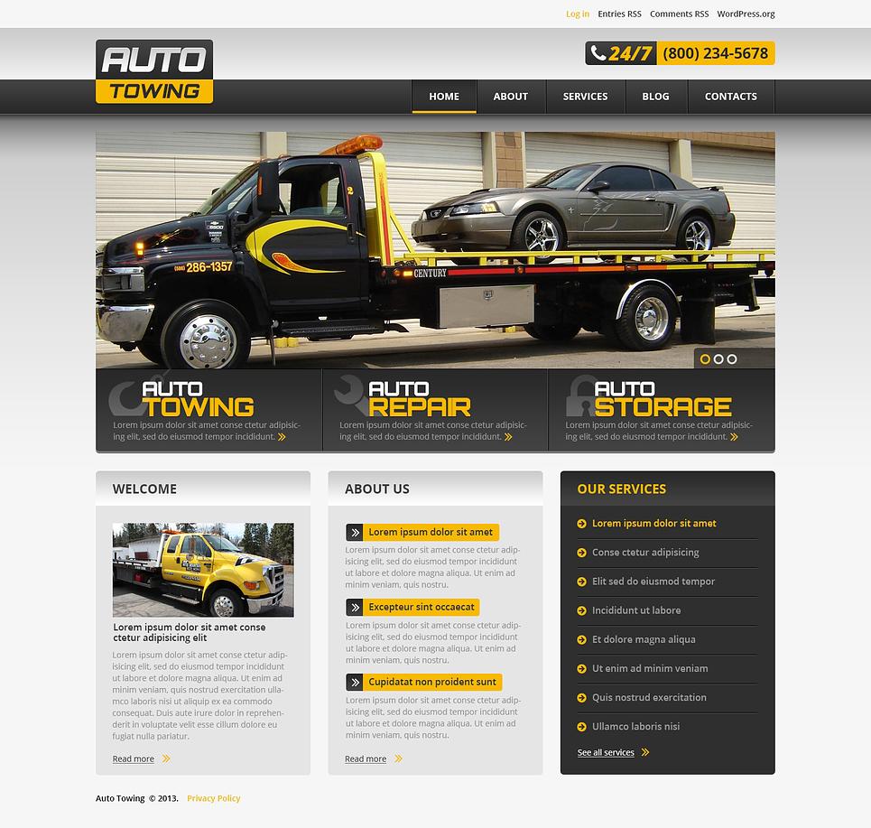 Адаптивный шаблон сайта на тему ремонт авто #46549