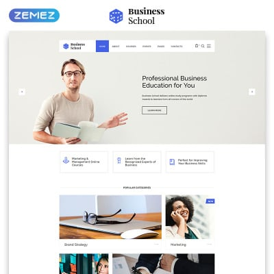 Business school templates templatemonster cheaphphosting Choice Image