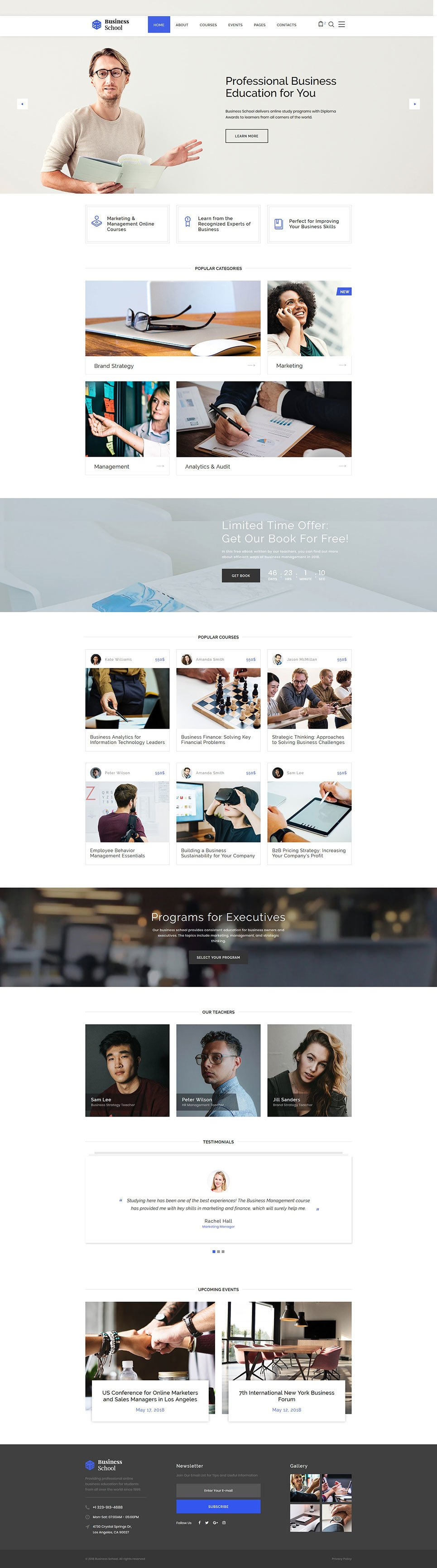 Business School Responsive Website Template New Screenshots BIG