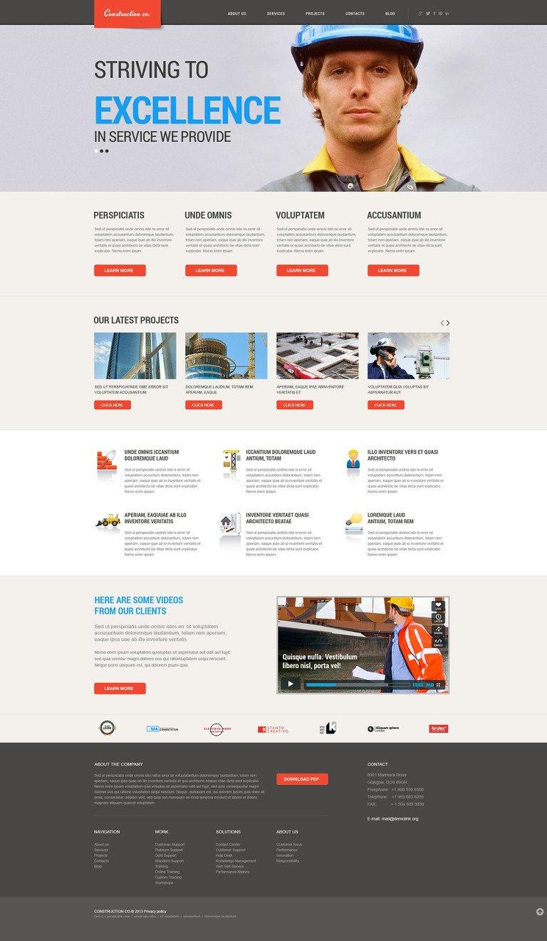 Construction Projects WordPress Theme New Screenshots BIG