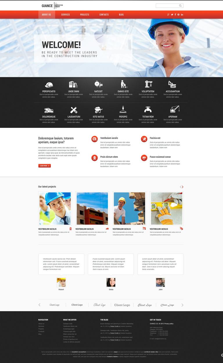 Effective Construction WordPress Theme New Screenshots BIG