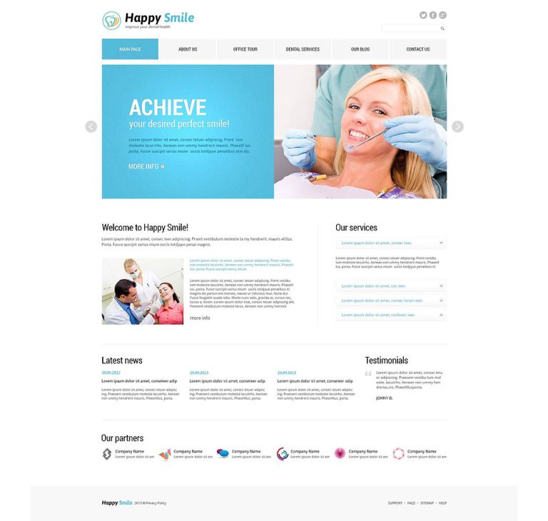 Fancy Dentistry Joomla Template New Screenshots BIG