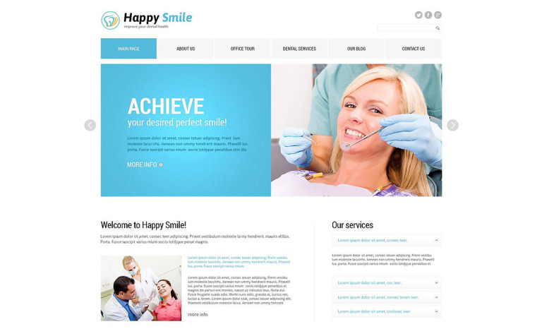 Fancy Dentistry Joomla Template