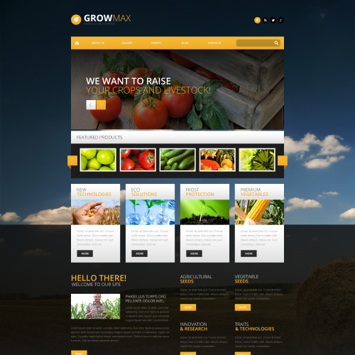 Grow Max - WordPress Template based on Bootstrap