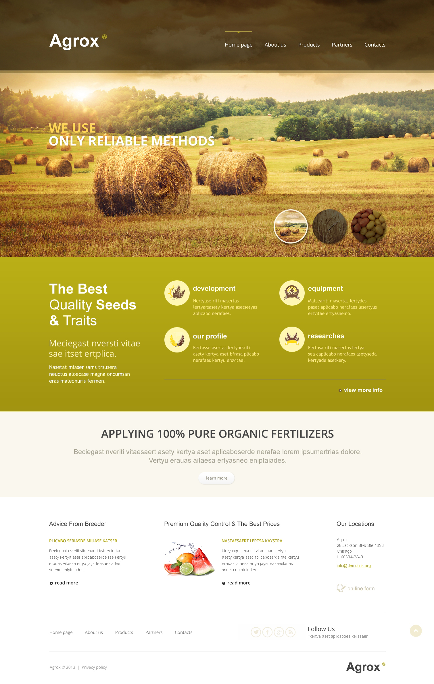 farm responsive website template  46511