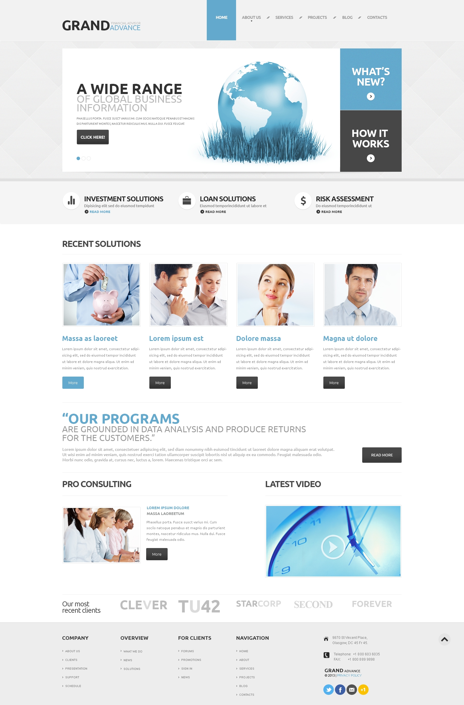 Financial Consultant WordPress Theme - screenshot