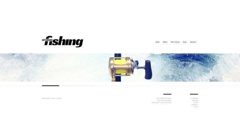 Fishing Website Template New Screenshots BIG