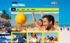 Flat Volleyball Tema WordPress №46547 New Screenshots BIG