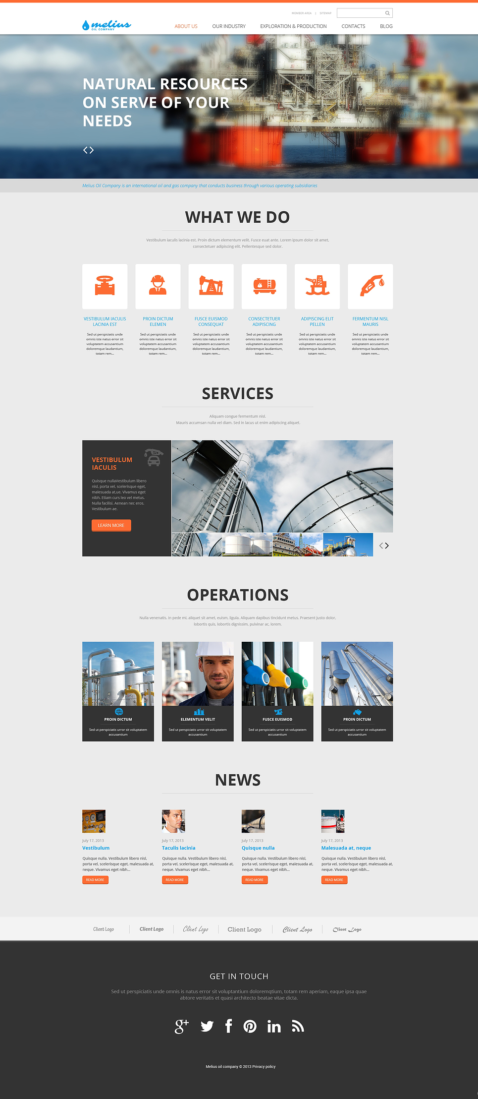 Gas & Oil Responsive Website Template #46513