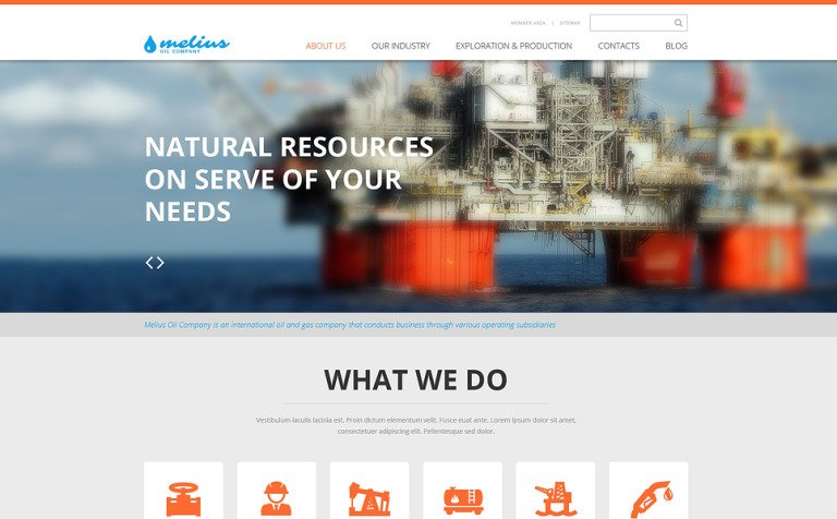 Gas Oil Responsive Website Template - What is web template