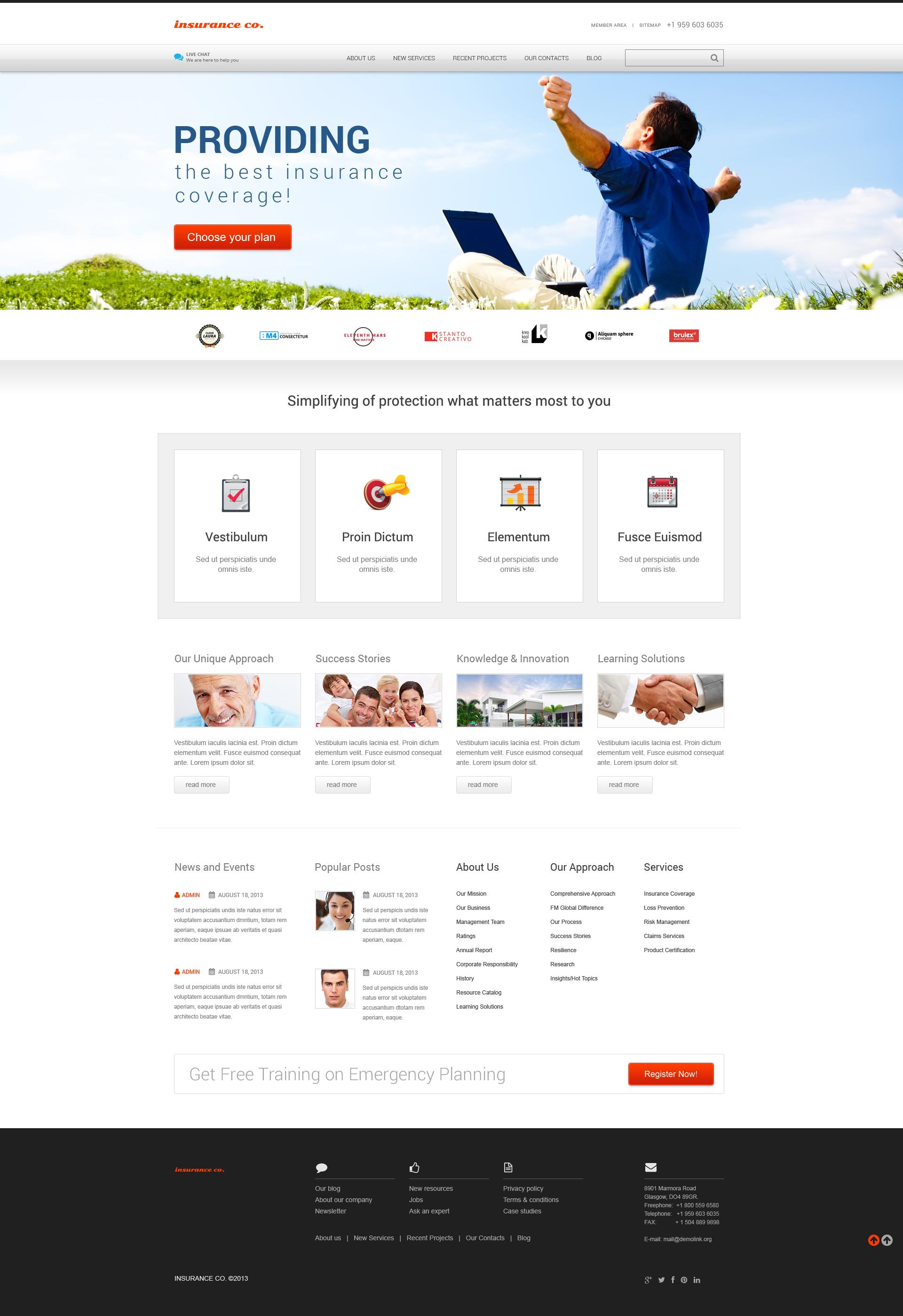 """Insurance with Benefits"" thème WordPress adaptatif #46567"