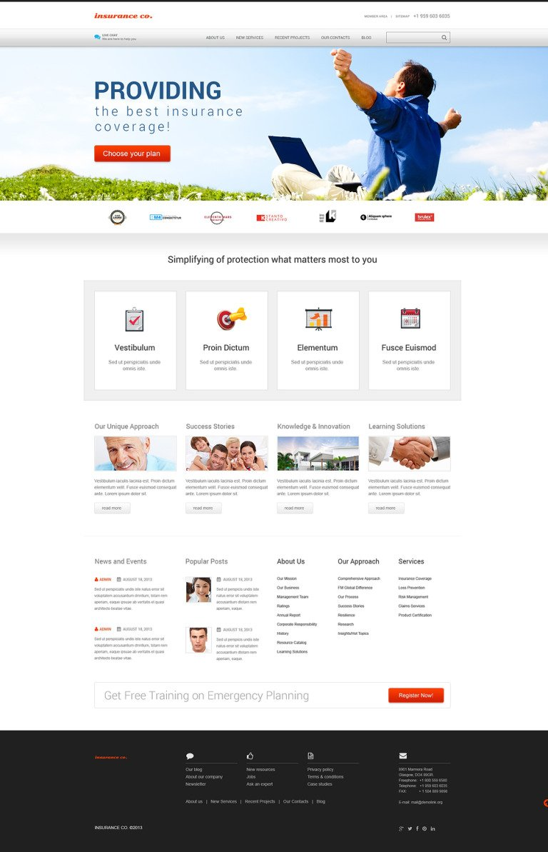 Insurance with Benefits WordPress Theme New Screenshots BIG