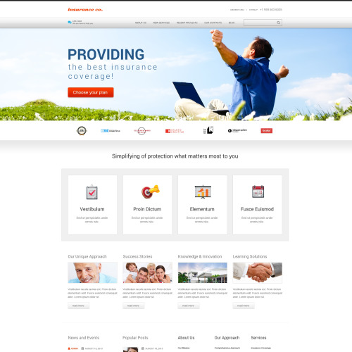 Insurance Co. - WordPress Template based on Bootstrap