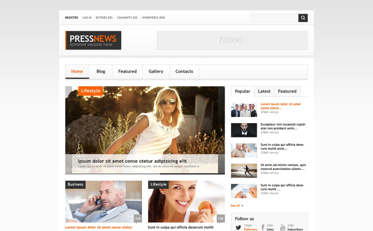 Interesting News Portal WordPress Theme