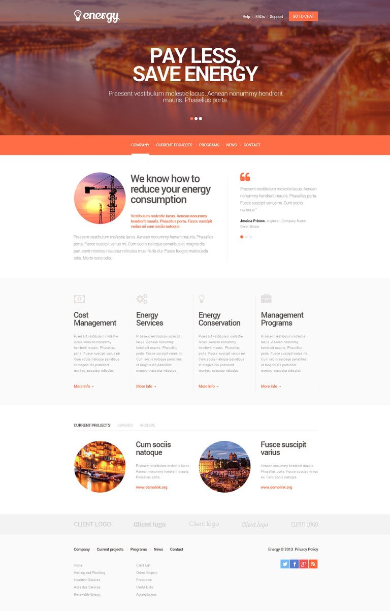 Lighting & Electricity Responsive Website Template New Screenshots BIG