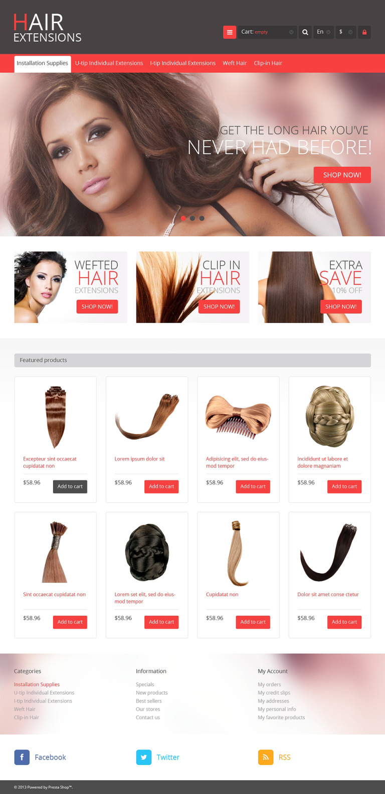 Luxury Hair PrestaShop Theme New Screenshots BIG