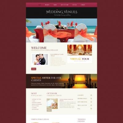 Wedding Venues Moto CMS HTML šablona