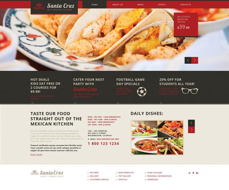 Mexican Restaurant Responsive Website Template New Screenshots BIG