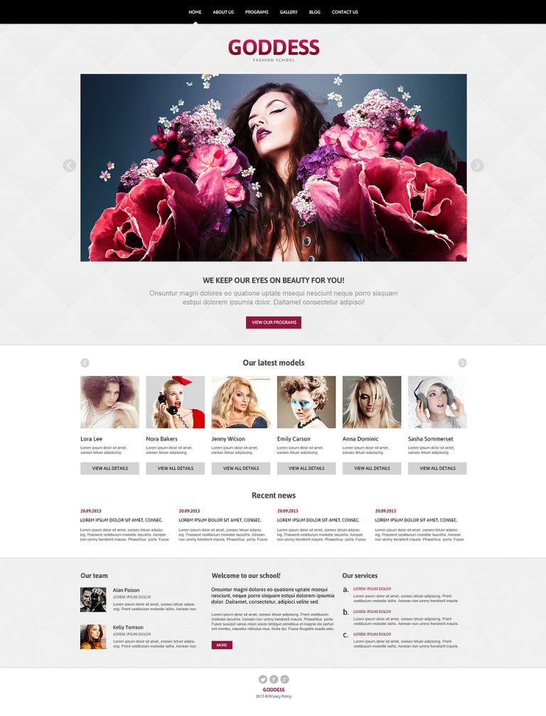 Model Agency Responsive Joomla Template New Screenshots BIG