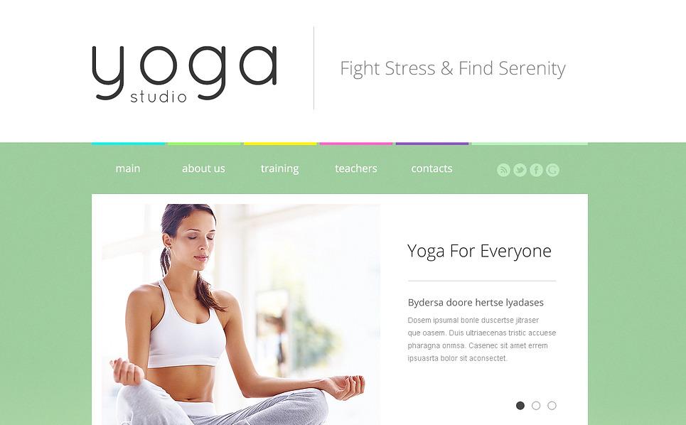 Modèle Web adaptatif  pour site de yoga New Screenshots BIG