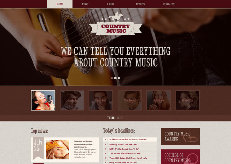 Music Blog Responsive