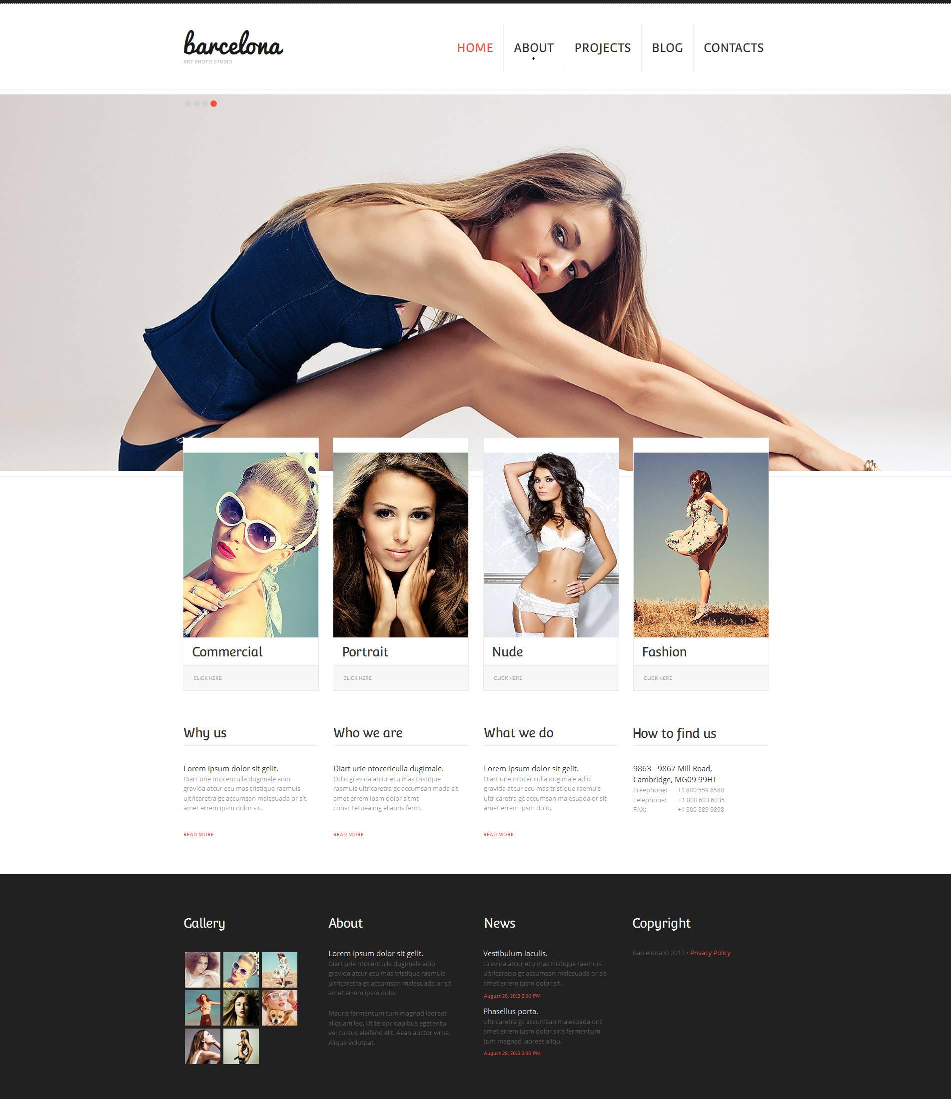 Photo Studio Moto CMS HTML Template