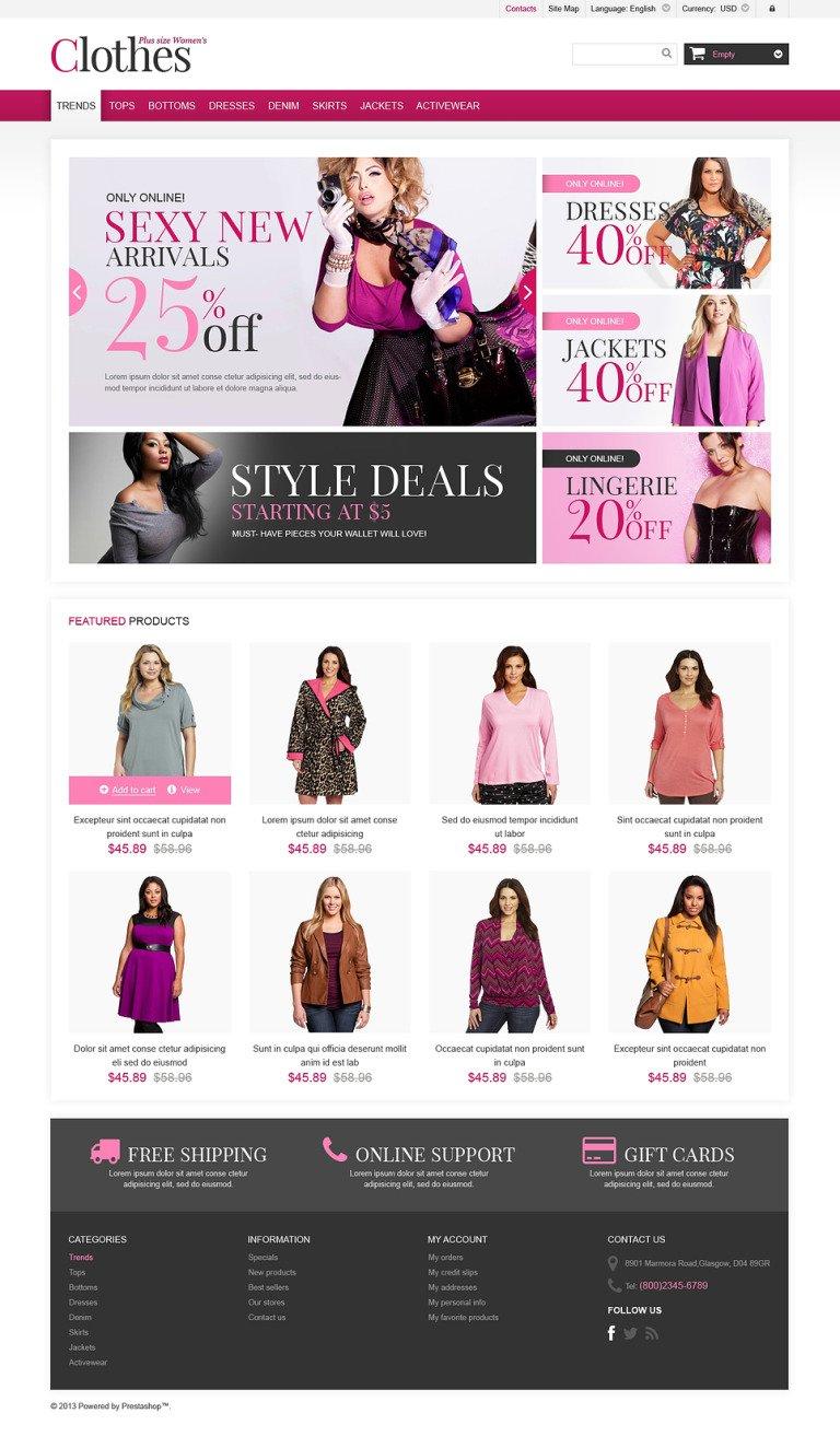 Plus Size Clothes Store PrestaShop Theme New Screenshots BIG