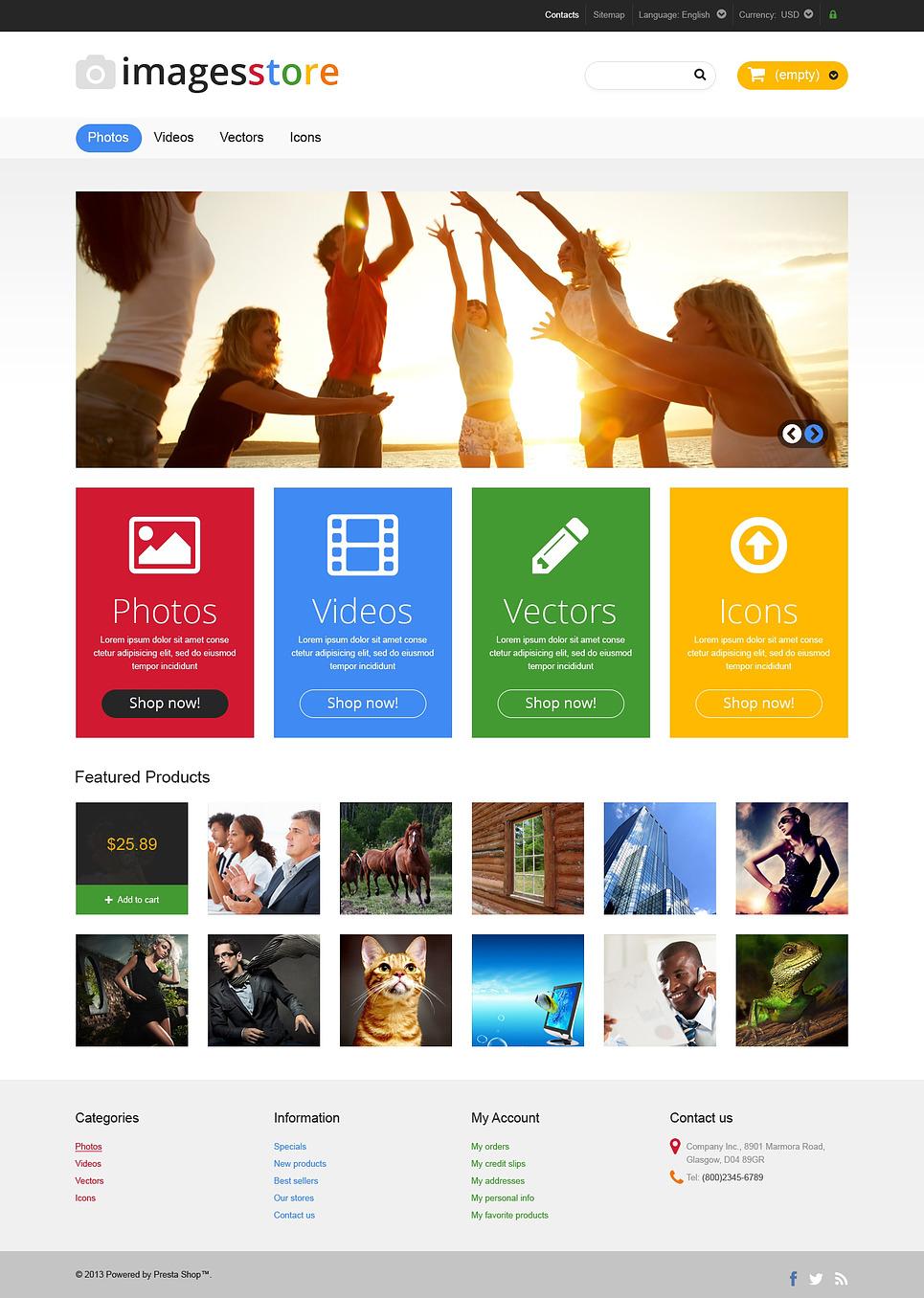 Responsive Image Store PrestaShop Theme New Screenshots BIG