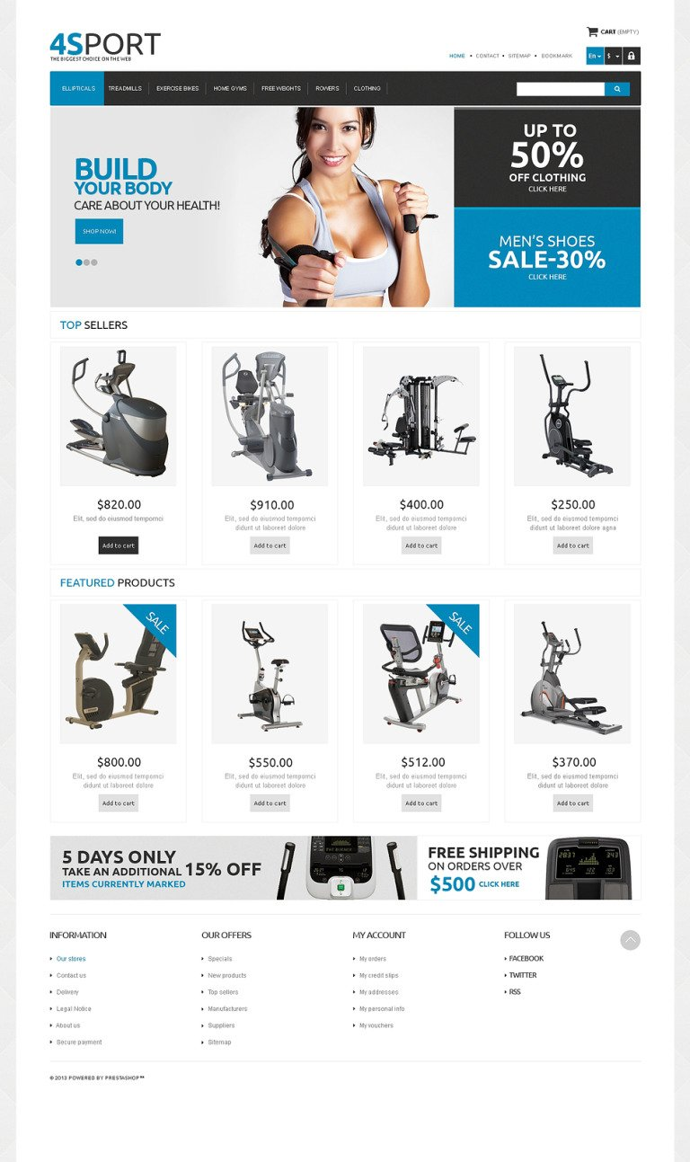 Responsive Sport Store PrestaShop Theme New Screenshots BIG