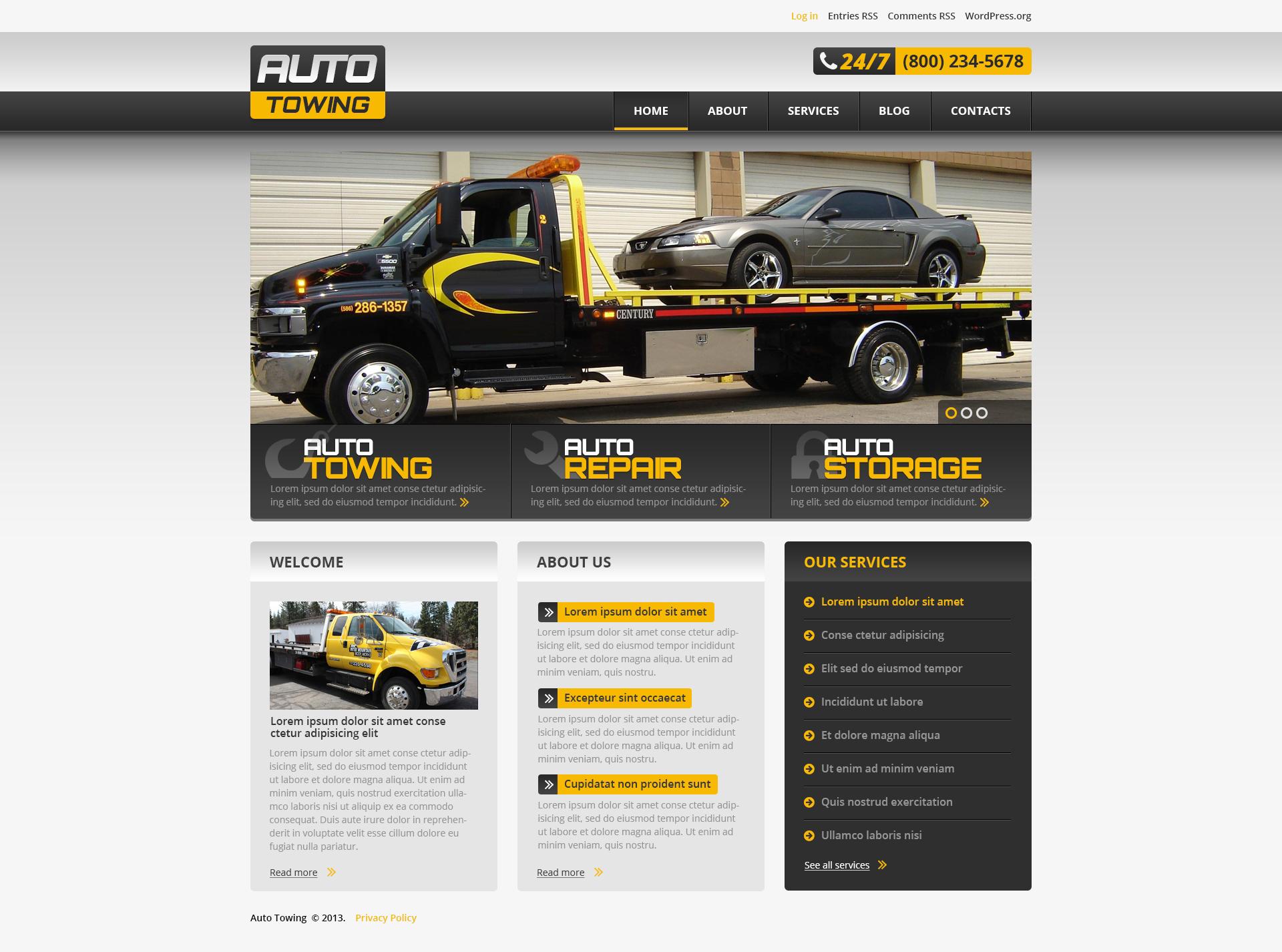 Responsive Successful Car Repair Wordpress #46549 - Ekran resmi