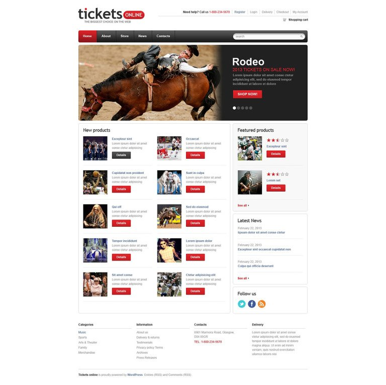 Responsive Tickets Store WooCommerce Theme New Screenshots BIG