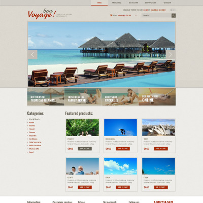 opencart bookstore template - opencart travel themes