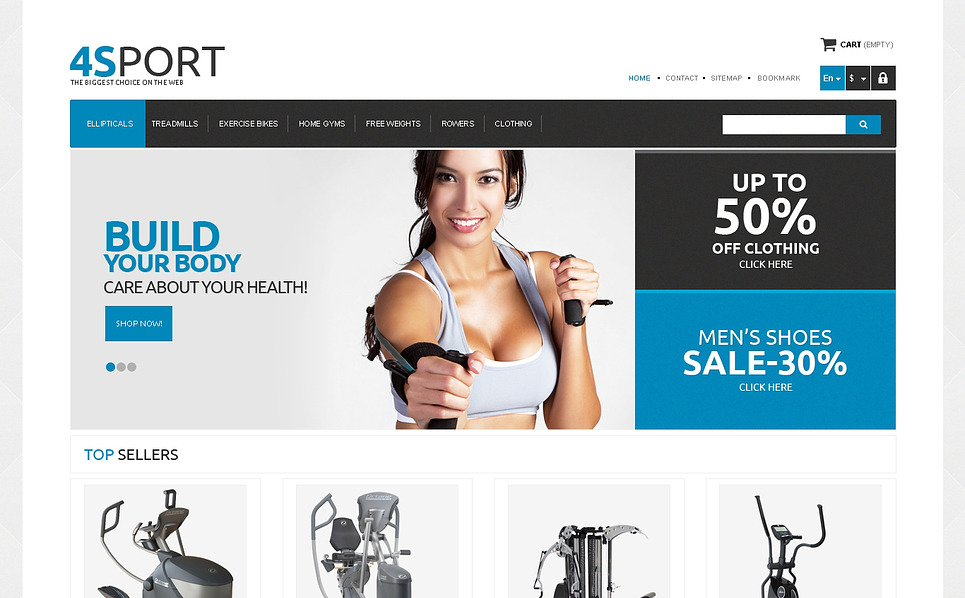 Responsives PrestaShop Theme für Bodybuilding  New Screenshots BIG