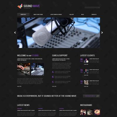 Responsywny szablon Joomla #46536 na temat: studio nagrań