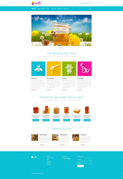 Honey Store Responsive Šablona Webových Stránek