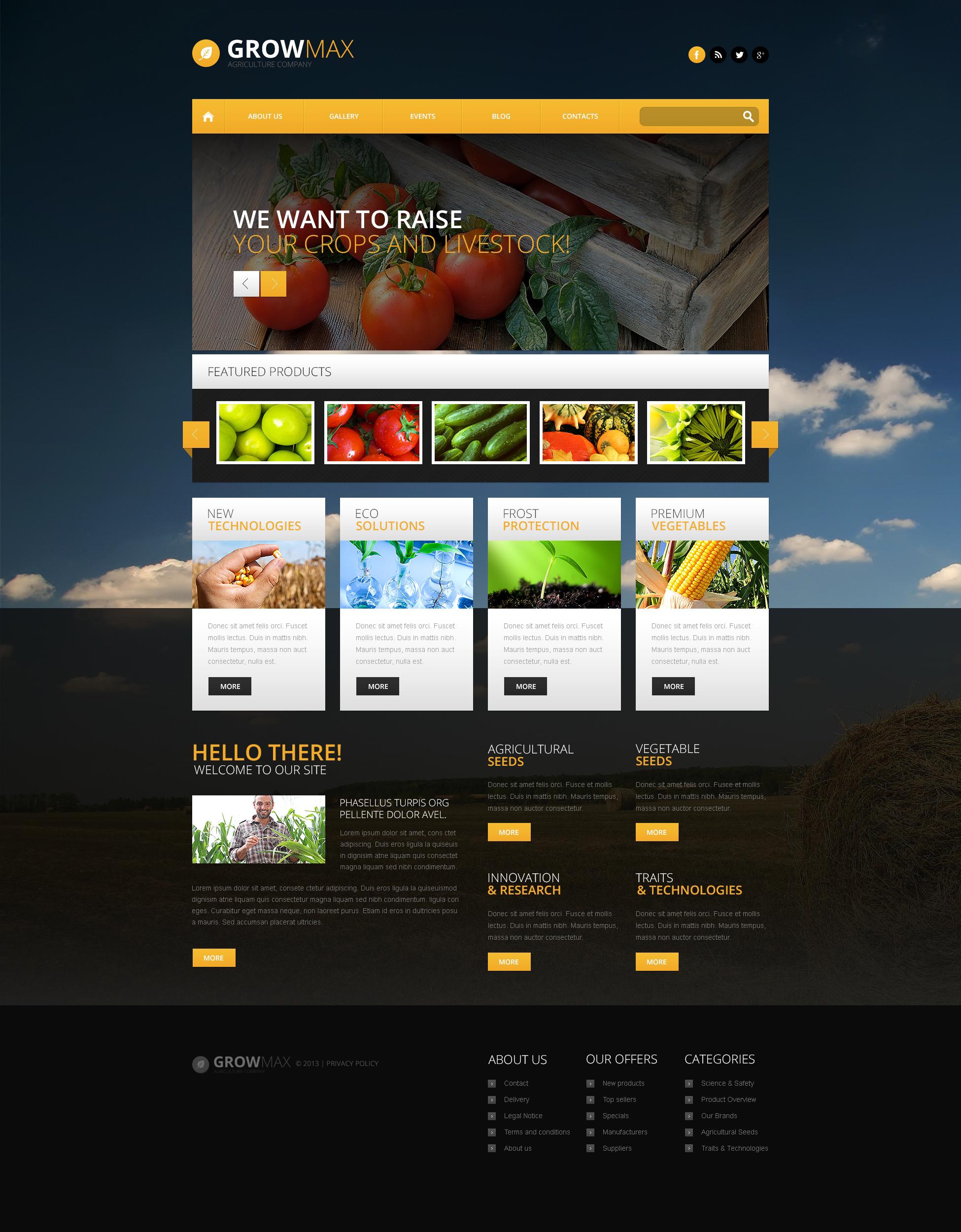Reszponzív Farm Industry WordPress sablon 46545