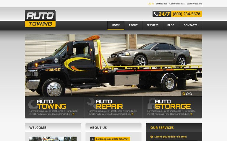 Successful Car Repair WordPress Theme #46549